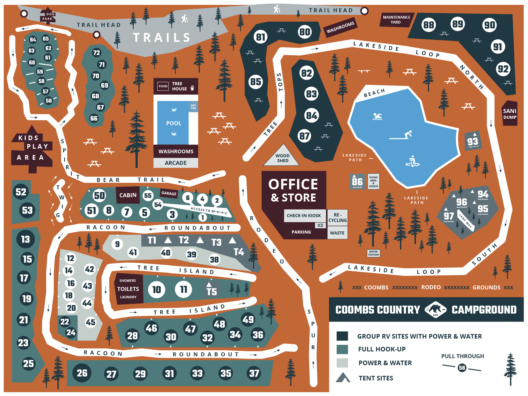 Coombs Campground Map